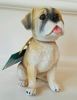 Top Paw Boxer Dog Bobblehead Figurine Statue - Realistic Detail Puppy New!