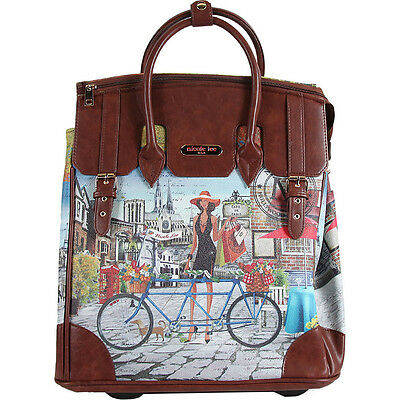 Nicole Lee Fiona Rolling Business Tote, Special Print Ladies' Busines NEW