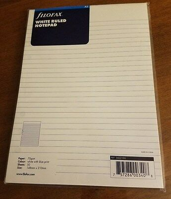 Filofax A5 White Ruled Notepad - 50 sheets - 342210