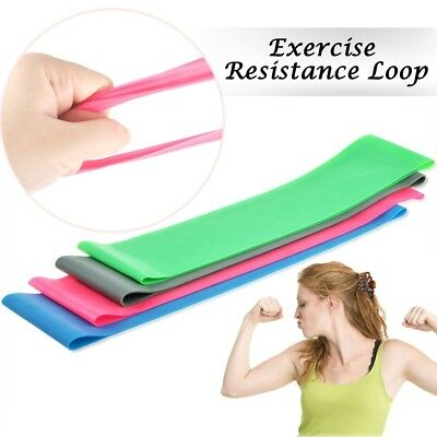 4 PCS Resistance Loop Band Exercise Yoga Bands Rubber Fitness Training Strength