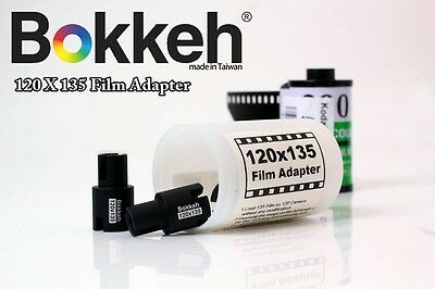 Bokkeh 135 -120 Medium Format Camera Film Extender Adapter Mount  Black 135mm