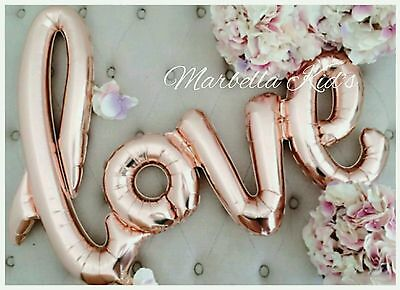 ��Love Script Balloon ��Rose Gold /Red FREE POSTAGE