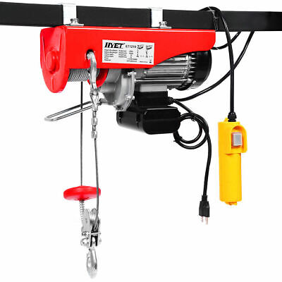 880lbs Mini Electric Wire Hoist Remote Control Garage Auto Shop Overhead Lift