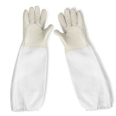New Protective Bee Keeping /& Vented Long Sleeves Beekeeping Gloves Mittens 6L