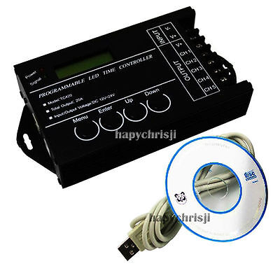 Programmable Time LED RGB/Single color Strip Controller 5 Channels 20A DC12- 24V