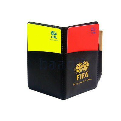 Sport Football Soccer Referee Wallet Notebook With Red/Yellow Card Pencil DA