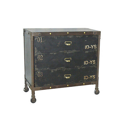 loft kommode schrank design industrie vintage sideboard metall industrial holz m eur 263 12. Black Bedroom Furniture Sets. Home Design Ideas