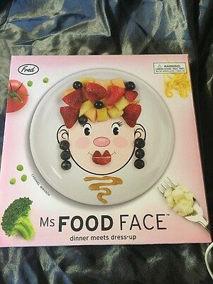 Fred & Friends Ms Food Face, Novelty Kids Dinner Plate. Great Present, Gift