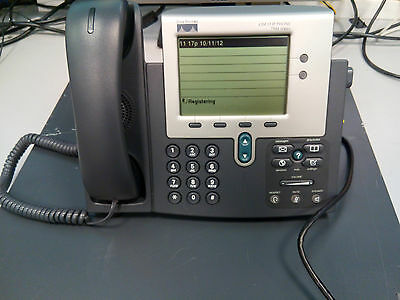 Cisco CP-7941G Voip Phone 2 Buttons / 2 Line Greyscale Display SCCP Firmware