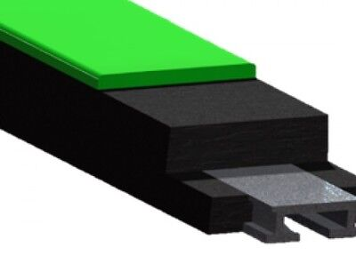 Impact bars for skid bed conveyor belt feed Impact bed rubber conveyor belting