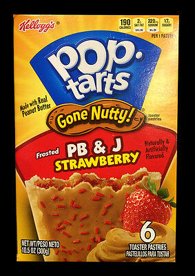 Kellogg's Pop Tarts Gone Nutty Frosted Peanut Butter & Jam Strawberry