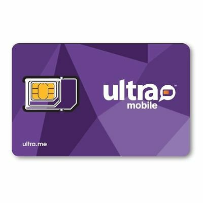 Ultra Mobile Triple Punch SIM card for Prepaid Plans (unfunded) - FREE SHIPPING