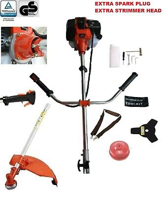 52cc 2 IN1 PETROL STRIMMER BRUSH CUTTER GRASS TRIMMER  ONE YEAR WARRANTY UK Co.,