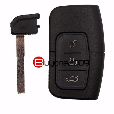 New Smart Remote Key Shell Case Fob 3 Button for Ford Focus Mondeo Galaxy S-Max