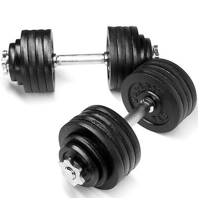 2 x 52.5 LBS Adjustable Cast Iron Dumbbells Weight 105 lbs total - ²DWP2C