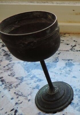 small bronze votive goblet early medieval but could be even older