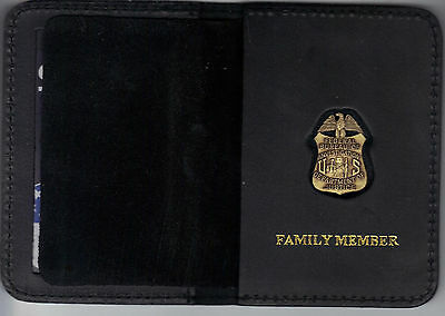 FBI Family Member Wallet with Antique Mini Badge included (from MCO Quantico)