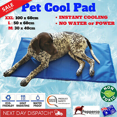 Pet Cooling Mat Cool Gel Summer Bed Dog Puppy Non Toxic Cold Pad Large Sizes