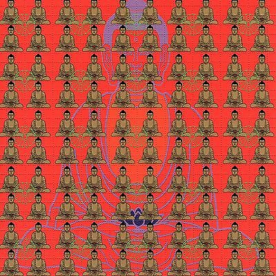 Meditating Buddha Blotter Art Psychedelic Lsd Acid Free Paper 900 Squares Print