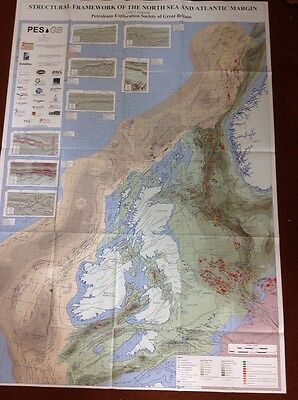 Structural Framework Geological Map of the UK North Sea And Atlantic Margin  PES