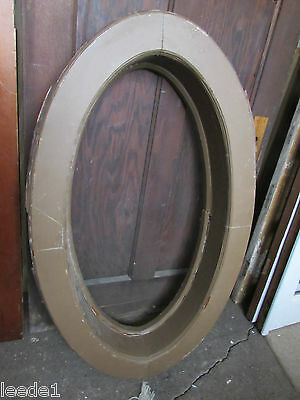 Ox Eye Oak Casing Oval Window For Victorian Home Architectural Salvage