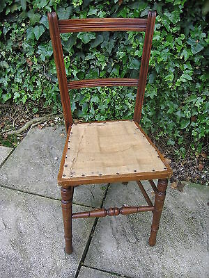 Antique Edwardian bedroom / hall chair