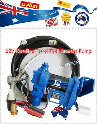 12V Petrol Gasoline Fuel Dispenser Pump + Fuel Nozzle + Hose
