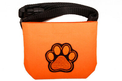 Magnetic closure Dog treat pouch bait bag - for dog shows and training. Orange