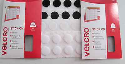 Velcro Stick on Coins Self Adhesive Stick on Coins 16mm Black or White