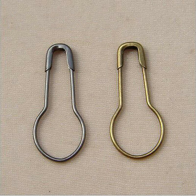 Metal Safety Pins Calabash Gourd Bulb Shape Hang Tag Dress Clothes 5 Colors