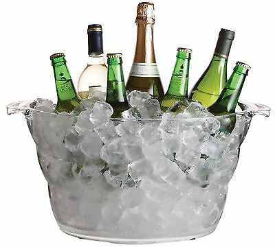 Ice Bucket 13.5 L Champagne Beer Drinks Pail Cooler Acrylic Plastic Large Oval