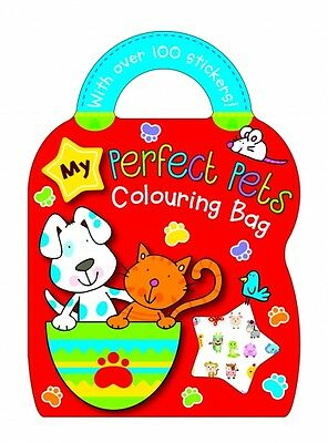 My Perfect pets Colouring and Sticker Book Carry Bag Book
