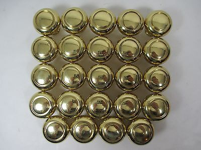 24 Solid K19 Heavy Polished Brass Round Drawer Cupboard Pull Knob Belwith Keeler