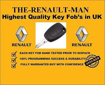 2 Button Key Fob Suitable For Renault Trafic, Master, Vauxhall Vivaro, Movano