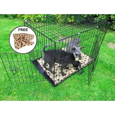 """AVC (XXL) 48"""" Metal Pet Dog Cat Transport Training Cage including FREE Bed"""