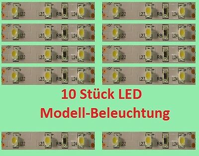 10 pc. LED Carriage lighting & Interior for diecast models - warm white - E331