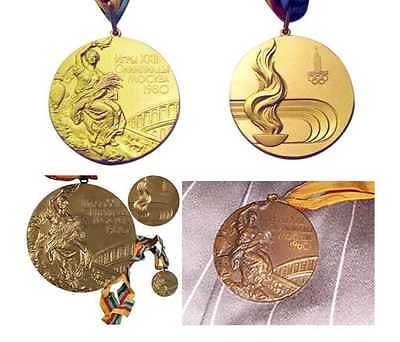 1980 Moscow Olympic Medals Set (Gold/Silver/Bronze) with Ribbons !!!