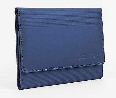 NEW Genuine Suzuki CAR Owners Manual Handbook Wallet Holder Sleeve Storage Blue