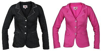 Red Horse Childs Horse Riding Jacket COMPETITION SHOW Glitter Fabric ALL SIZES