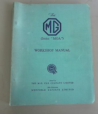 """THE MG (Series MGA"""") WORKSHOP MANUAL IN GOOD CONDITION ENGLAND"""