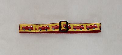 Yellow & Red Firetruck Toddler Adjustable Stay Put Belt 12 -18 Months