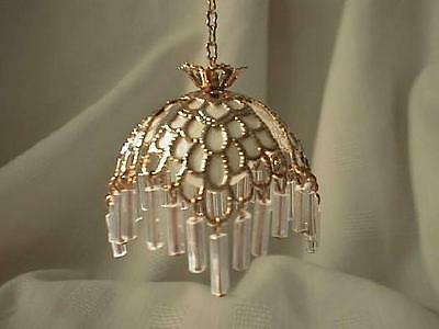 dollhouse doll house miniature ELECTRIC TIFFANY HANGING LAMP CHANDELIER