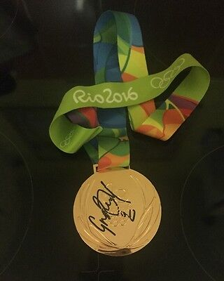 Greg Rutherford Signed Replica Bronze Rio 2016 Medal (100% Photo Proof)