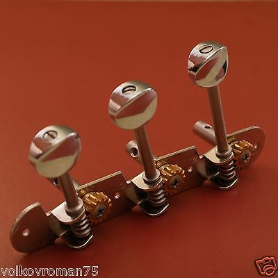 3 in line For Three string Balalaika Alt Original RussianTuning Pegs, tuner