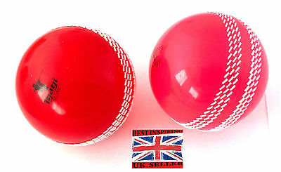 POLY PINK /RED Cricket Soft indoor Balls training club outdoor  wind ball