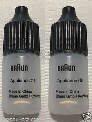 Genuine Braun Shaver Oil *qty2*  5Ml Clippers Remington Philips Panasonic Wahl