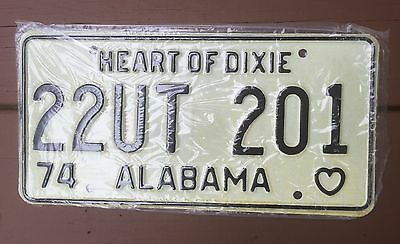 ALABAMA Vintage LICENSE PLATE 1974 HEART OF DIXIE