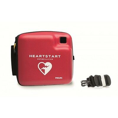 Philips HeartStart FR2+ AED Defibrillator w/ 2yrWRTY+New Case,Battery&Adult Pads