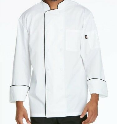 Dickies Cool Breeze Chef Coat with Piping DC411 Unisex Men Women Pick Size/Color