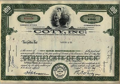 Coty, Inc. Stock Certificate